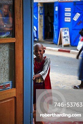 African child, Saint-Louis, Republic of Senegal, Africa