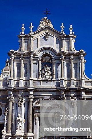 Duomo square, Catania, Sicily, Italy, Europe