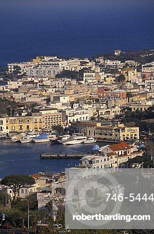 Cityscape of Ischia Porto, Ischia, Campania, Italy.