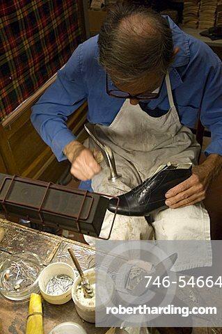 Artisan shoe-shop Mannina, Florence, Italy