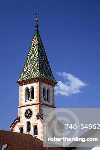Bell tower of Appiano church,  Appiano, Trento, Italy