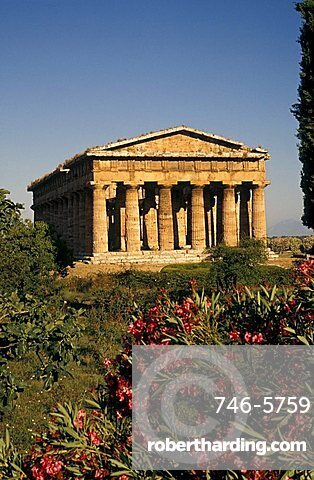 Temple dedicated to Neptune, Paestum, Campania, Italy