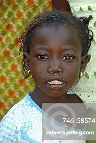 Wolof child, Republic of Senegal, Africa