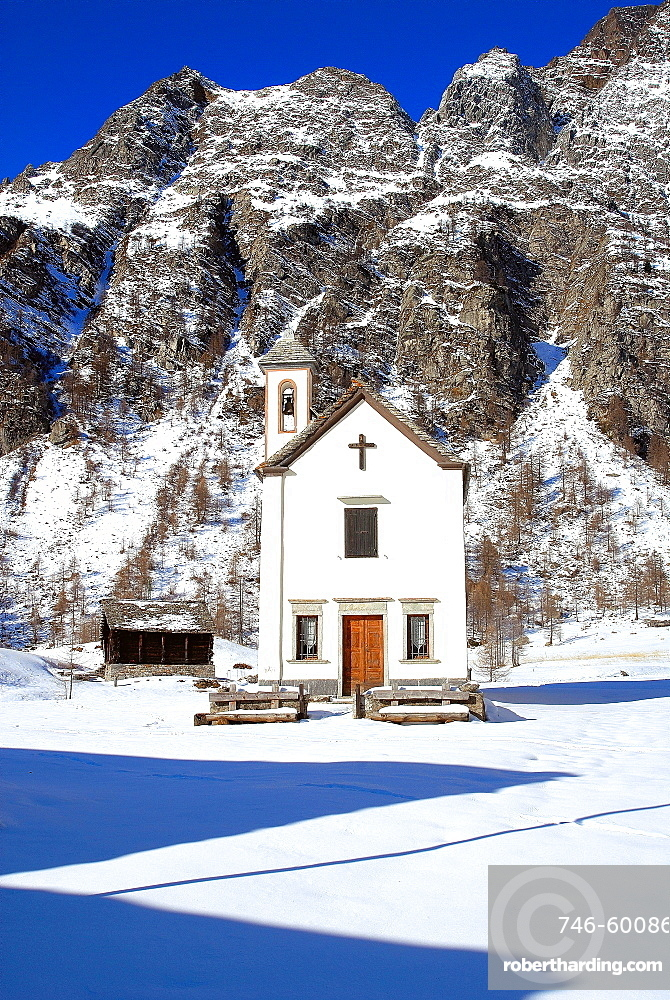 Crampiolo Church, Alpe Devero, Ossola Valley, Verbania province, Piedmont, Italy