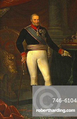 Francesco II portrait, Reggia di Caserta, Caserta, Campania, Italy