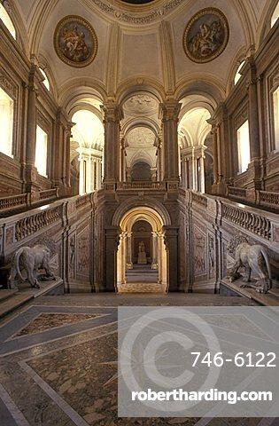 Great staircase of honour, Reggia di Caserta, Caserta, Campania, Italy