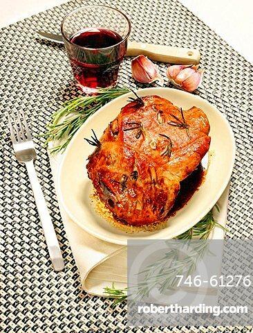Cosciotto di vitello al forno, roasted leg of veal, Italy, Europe