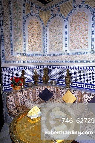 Interior of a typical restaurant, Jeddah, Saudi Arabia, Middle East