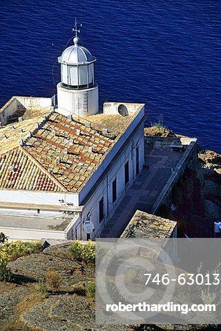 Lighthouse, Capo Omo Morto, Ustica island, Sicily, Italy