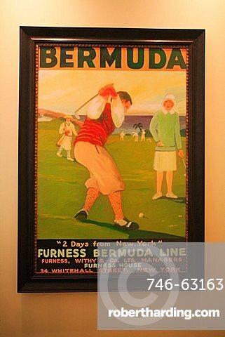 Vintage poster, Bermuda, Atlantic Ocean, Central America
