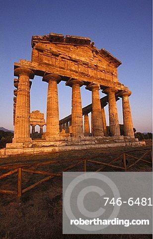 Athena temple, Paestum archaeological area, Campania, Italy