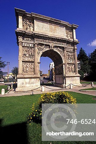 Traiano arch, Benevento, Campania, Italy