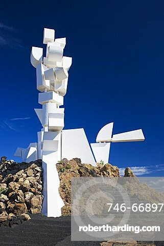 Campesino Monument, La Geria, Mozaga, Lanzarote, Canary Islands, Spain