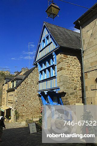 Jerzual street, Dinan, Côtes-d'Armor department, Bretagne, France, Europe