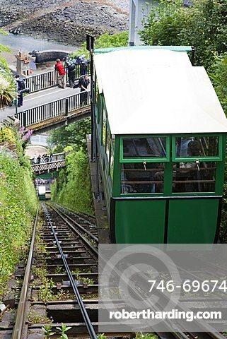 Cliff Railway, Lynton, North Devon, England, Great Britain