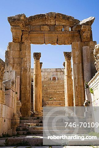 Middle East, Jordan, Jerah, a great and well conserved Graeco-Roman city