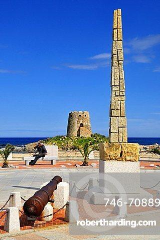 Torre Spagnola tower, Bari Sardo, Ogliastra, Sardinia, Italy, Europe