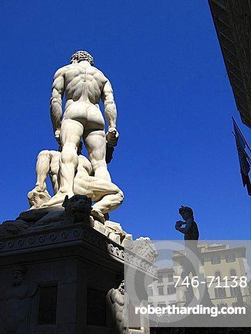 Piazza della Signoria square, Florence, Tuscany, Italy, Europe, UNESCO World Heritage Site