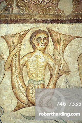 Fresco in the church of S. Giacomo, Temeno/Strada Vino, Alto Adige, Italy