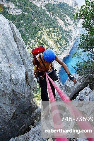 Climbing, Golfo di Orosei, Supramonte, Baunei (OG), Sardinia, Italy