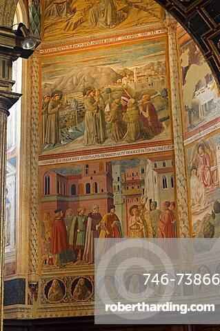 Benozzo Gozzoli frescoes, Museo San Francesco, Montefalco, Umbria, Italy, Europe