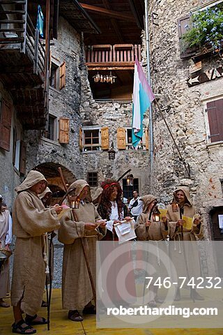 Rustico medioevo a Canale di Tenno show, Canale di Tenno village, Trentino Alto Adige, Italy, Europe