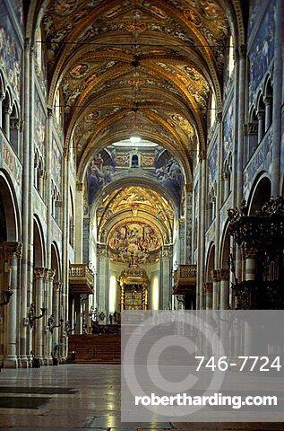 Interior of the cathedral, Parma, Emilia-Romagna, Italy
