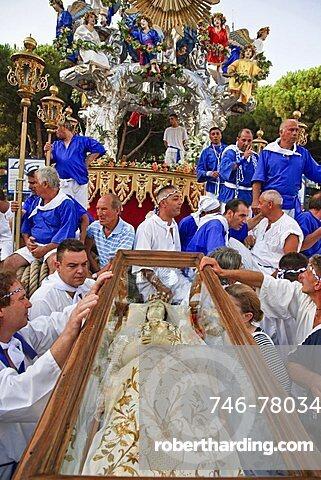 Procession, Festa della Vara, Messina, Sicily, Italy