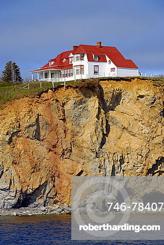 House on the rock, Perce, Gaspe peninsula, Quebec, Canada, North America