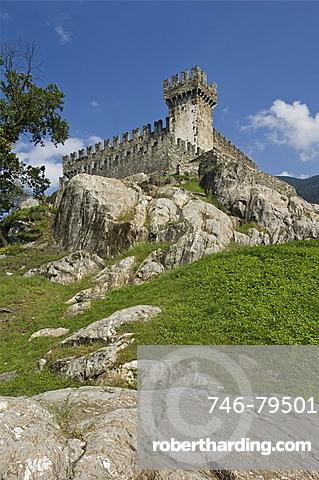 sasso corbaro castle, bellinzona, switzerland
