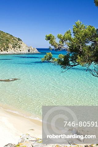 Monte Turnu beach, Costa Rei, Castiadas, Cagliari district, Sardinia, Italy, Europe