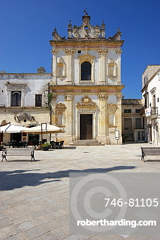 San Trifone church in Salandra Square, Salandra square, Nardv=, Salentine Peninsula, Apulia, Italy