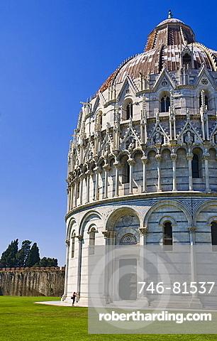 Pisa baptistry,Piazza dei Miracoli,Pisa city,Tuscany,Italy,Europe.