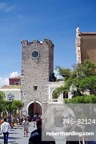 Torre dell'orologio, Taormina, Sicily, Italy, Europe