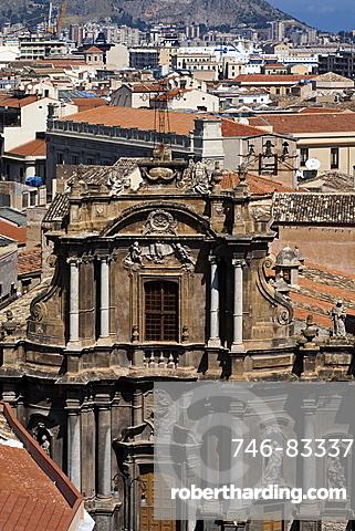 Sant'Anna church, favßade, Palermo, Sicily, Italy, Europe