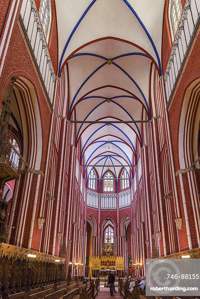 The minster in Bad Doberan near Rostock. A masterpiece build in north german brick high gothic style.  Europe,Germany, Rostock