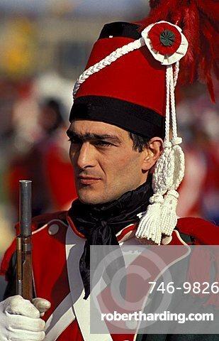 Infantryman, Traditional carnival, Ivrea, Piemonte, Italy