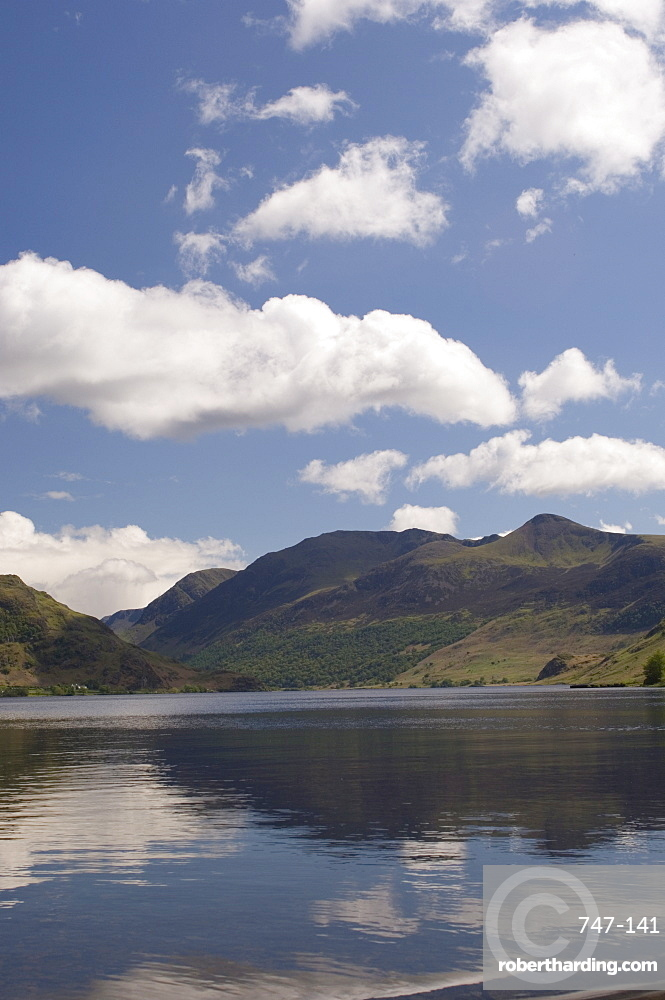 Crummock Water with High Stile, Lake District National Park, Cumbria, England, United Kingdom, Europe