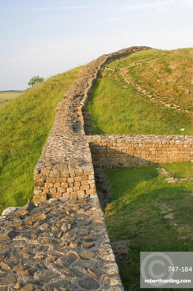Milecastle 39, Castle Nick, Hadrian's Wall, UNESCO World Heritage Site, Nothumberland, England, United Kingdom, Europe