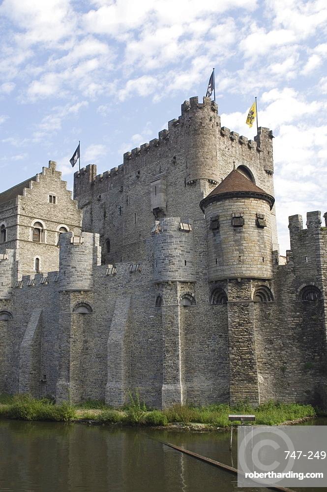 The Castle, Gravensteen, Ghent, Belgium, Europe