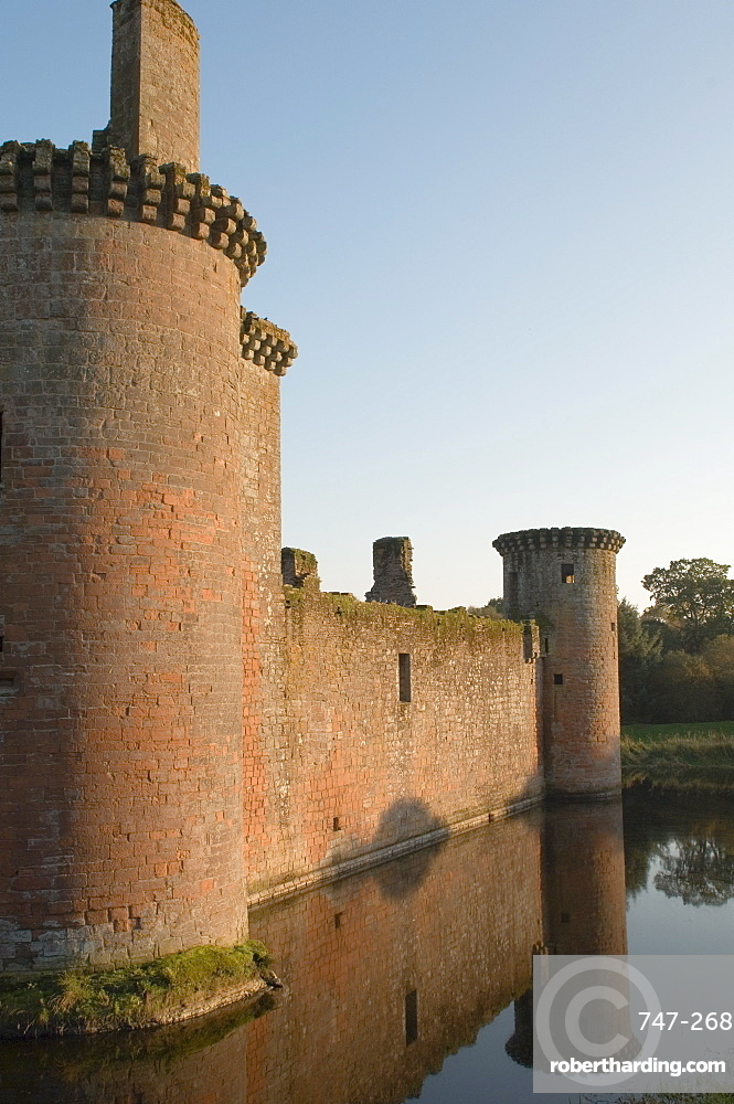 Medieval stronghold, Caerlaverock Castle ruin, Dumfries and Galloway, Scotland, United Kingdom, Europe