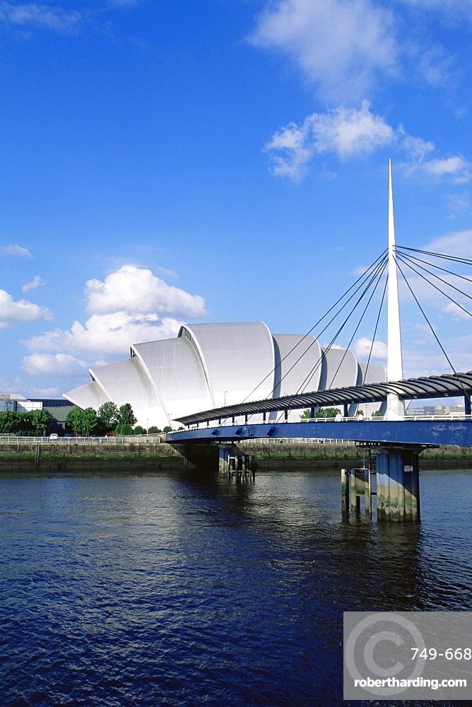 The Clyde Auditorium, known as the Armadillo, by the Exhibition and Conference Centre, designed by Sir Norman Foster, Glasgow, Scotland, United Kingdom, Europe
