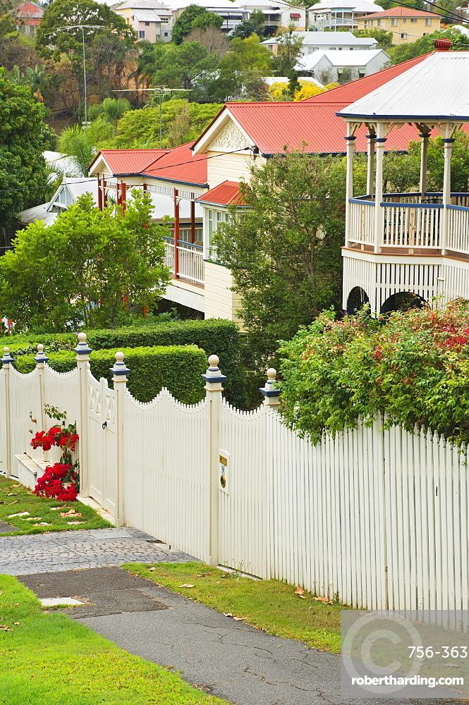 Historic houses, Paddington, Brisbane, Queensland, Australia, Pacific