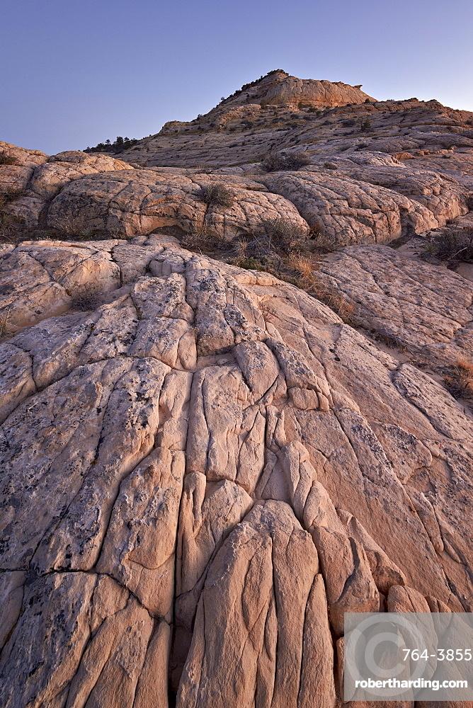 Navajo sandstone at dusk, Grand Staircase-Escalante National Monument, Utah, United States of America, North America