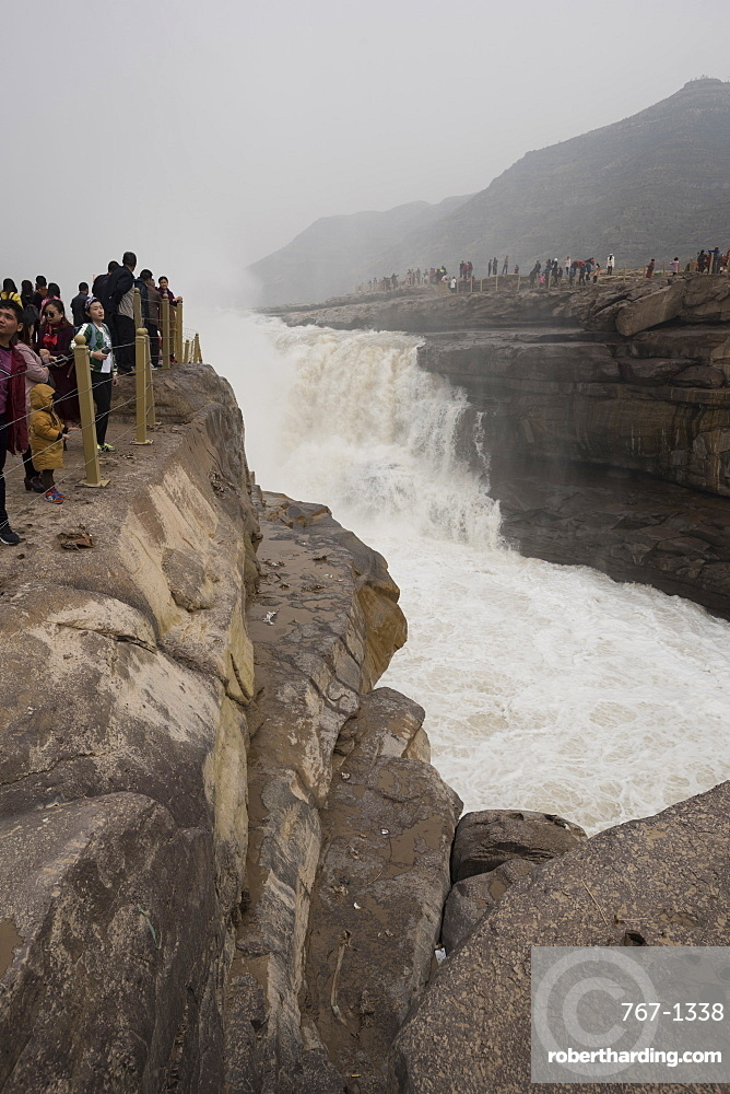 Hukou Waterfall on the Yellow River in Shaanxi Province, China, Asia