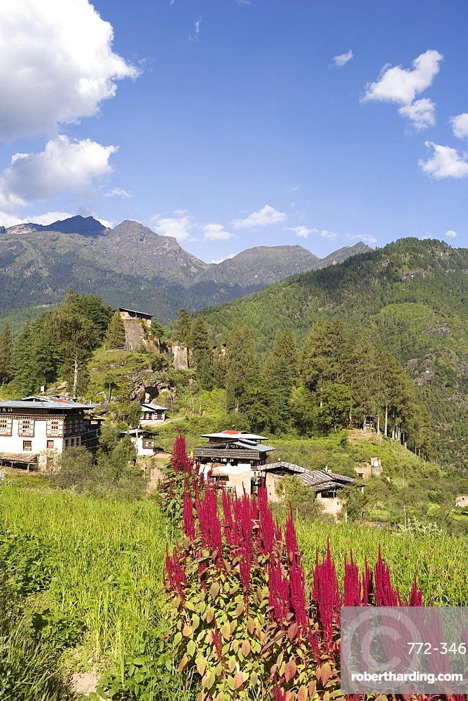 Drukgyel Village, Bhutan, Asia