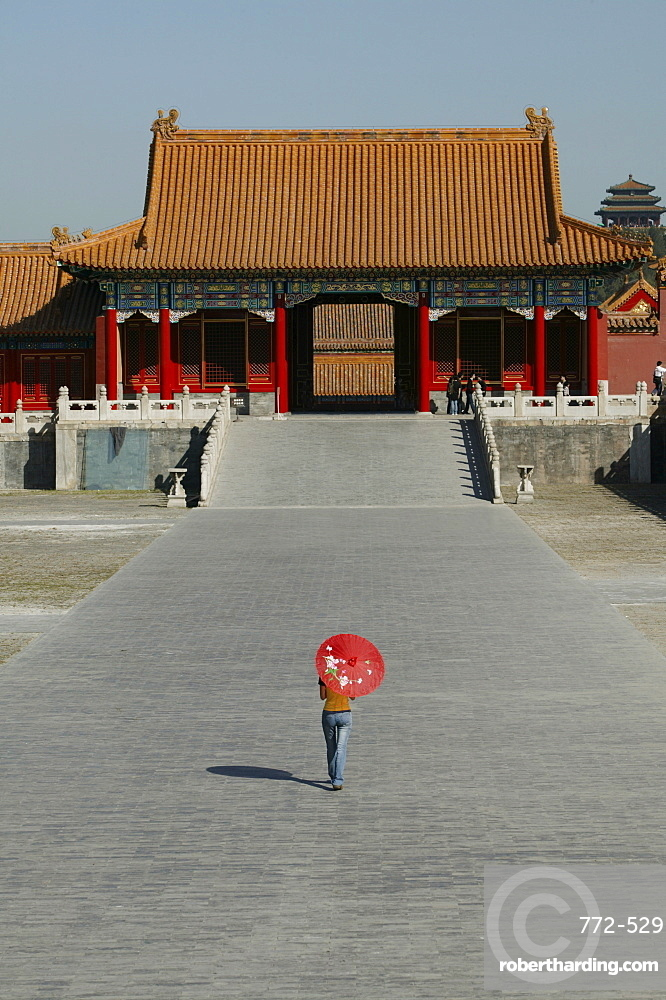 Chinese woman in the Forbidden City, Beijing (Peking), China, Asia