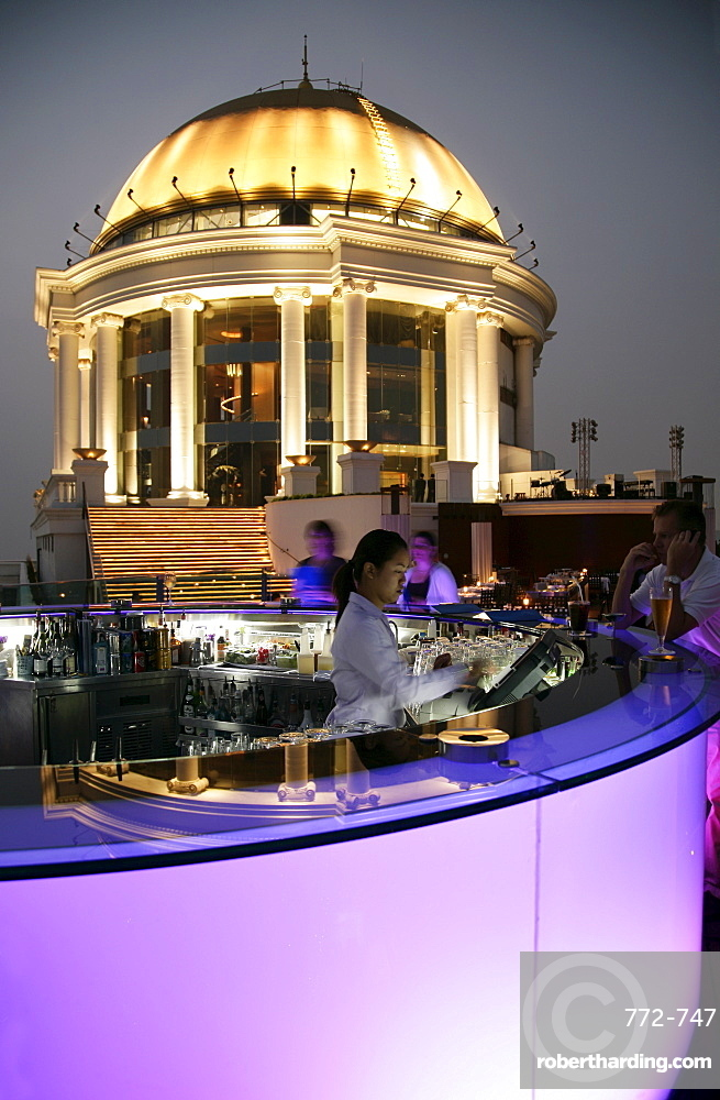 The Sirocco Bar, on Top of State Tower, Bangkok, Thailand, Southeast Asia, Asia