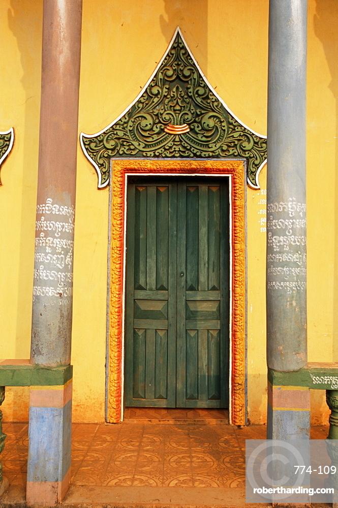 Buddhist temple, Sen Monorum, Mondulkiri Province, Cambodia, Indochina, Southeast Asia, Asia