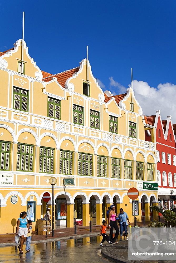 Penha Building, Punda District, Willemstad, UNESCO World Heritage Site, Curacao, Netherlands Antilles, West Indies, Caribbean, Central America